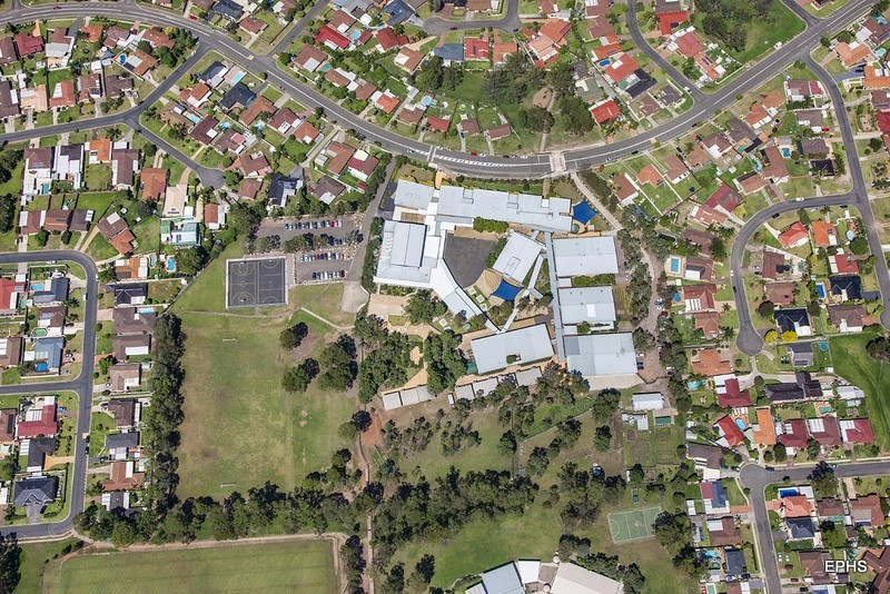 Aerial view of Erskine Park High School.